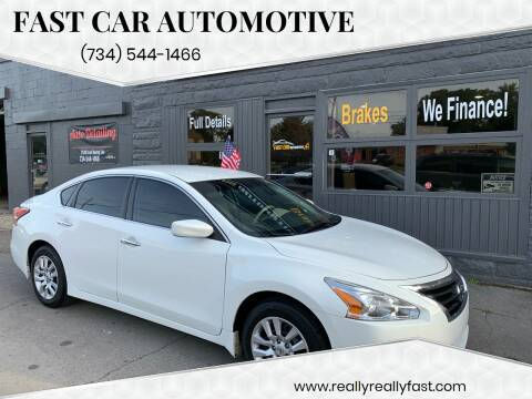2015 Nissan Altima for sale at Fast Car Automotive in Ypsilanti MI