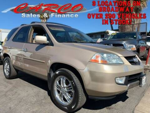 2002 Acura MDX for sale at CARCO SALES & FINANCE - Under 7000 in Chula Vista CA