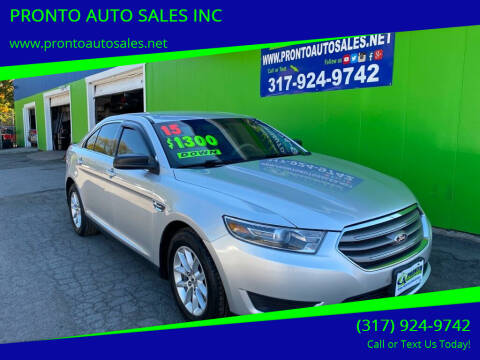 2015 Ford Taurus for sale at PRONTO AUTO SALES INC in Indianapolis IN