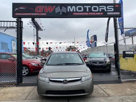 2007 Honda Civic for sale at GW MOTORS in Newark NJ