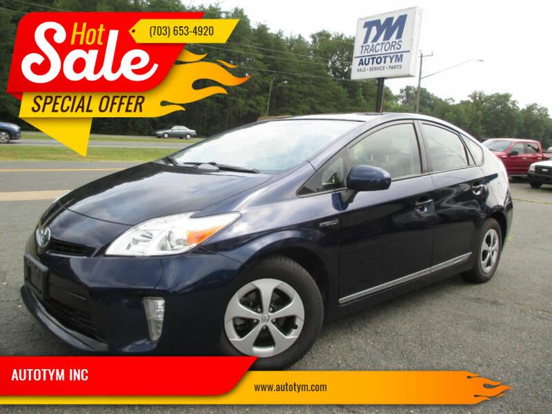 2013 Toyota Prius for sale at AUTOTYM INC in Fredericksburg VA