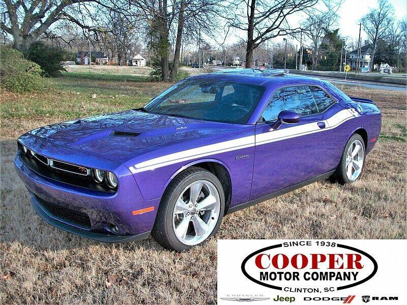 2016 Dodge Challenger for sale at Cooper Motor Company in Clinton SC