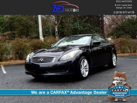 2010 Infiniti G37 Coupe for sale at Zed Motors in Raleigh NC