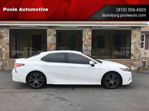2018 Toyota Camry for sale at Poole Automotive in Laurinburg NC