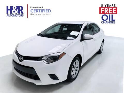 2017 Toyota Corolla for sale at H&R Auto Motors in San Antonio TX