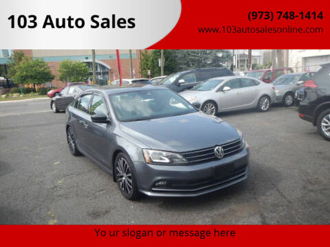 2016 Volkswagen Jetta for sale at 103 Auto Sales in Bloomfield NJ