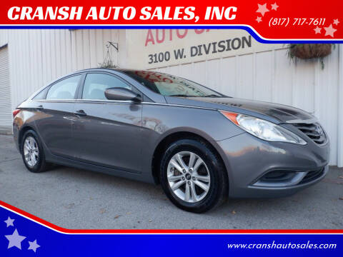 2011 Hyundai Sonata for sale at CRANSH AUTO SALES, INC in Arlington TX