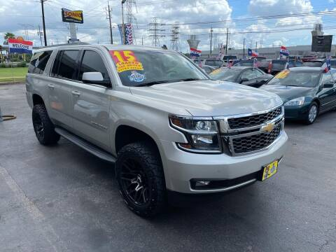 2015 Chevrolet Suburban for sale at Texas 1 Auto Finance in Kemah TX