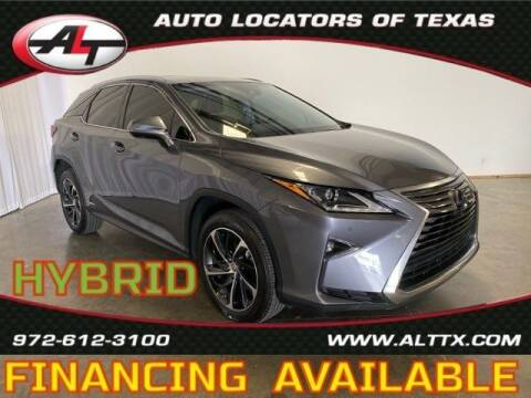 2017 Lexus RX 450h for sale at AUTO LOCATORS OF TEXAS in Plano TX