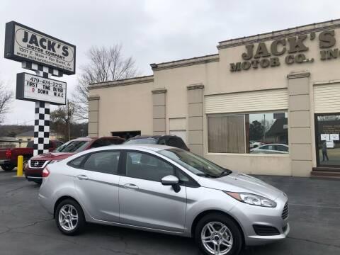 2019 Ford Fiesta for sale at JACK'S MOTOR COMPANY in Van Buren AR