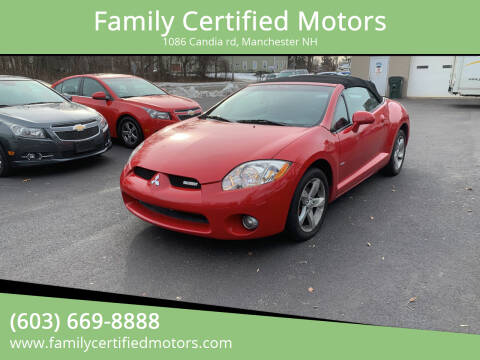 2007 Mitsubishi Eclipse Spyder for sale at Family Certified Motors in Manchester NH