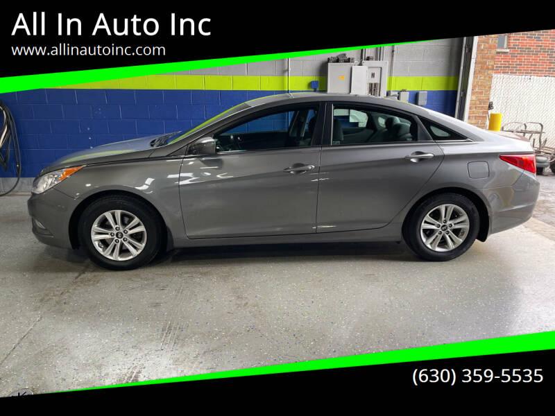 2013 Hyundai Sonata for sale at All In Auto Inc in Addison IL