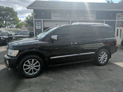 2009 Infiniti QX56 for sale at Richland Motors in Cleveland OH