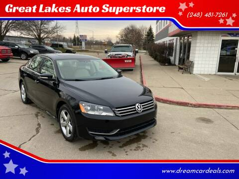 2013 Volkswagen Passat for sale at Great Lakes Auto Superstore in Pontiac MI