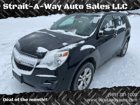 2013 Chevrolet Equinox for sale at Strait-A-Way Auto Sales LLC in Gaylord MI