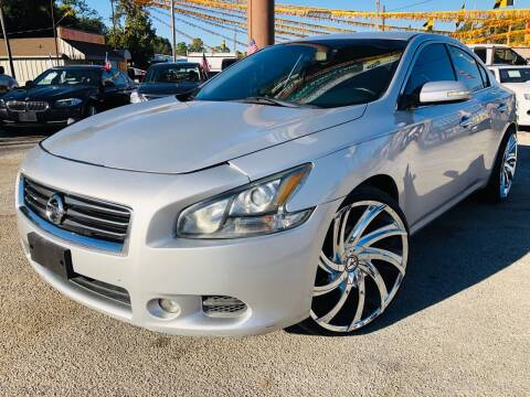 2014 Nissan Maxima for sale at Lion Auto Finance in Houston TX