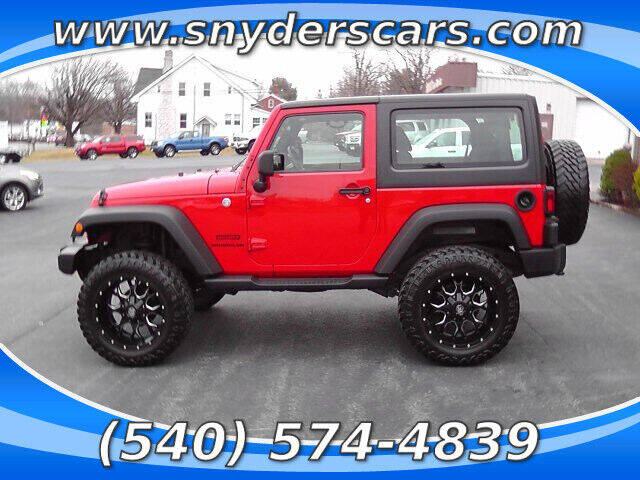 2014 Jeep Wrangler for sale at Snyders Auto Sales in Harrisonburg VA