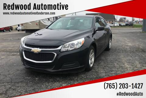 2015 Chevrolet Malibu for sale at Redwood Automotive in Anderson IN