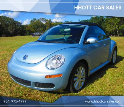 2009 Volkswagen New Beetle Convertible for sale at HHOTT CAR SALES in Deerfield Beach FL