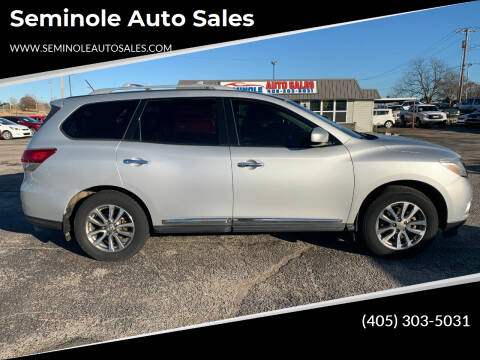 2013 Nissan Pathfinder for sale at Seminole Auto Sales in Seminole OK