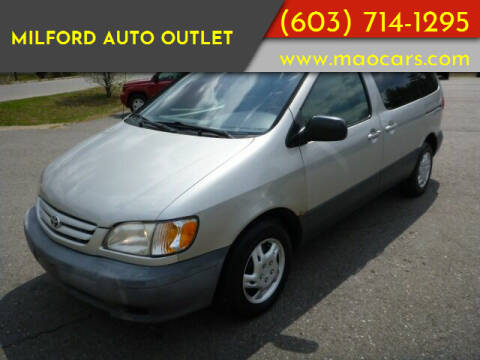 2002 Toyota Sienna for sale at Milford Auto Outlet in Milford NH