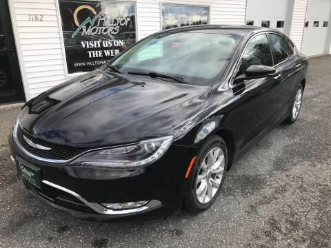 2015 Chrysler 200 for sale at HILLTOP MOTORS INC in Caribou ME