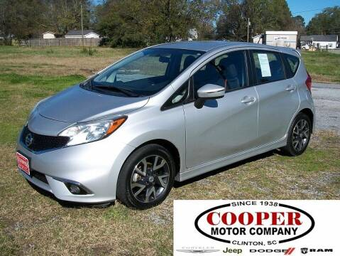 2015 Nissan Versa Note for sale at Cooper Motor Company in Clinton SC