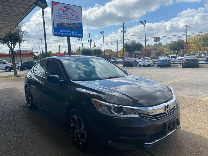 2016 Honda Accord for sale at Magic Auto Sales in Dallas TX