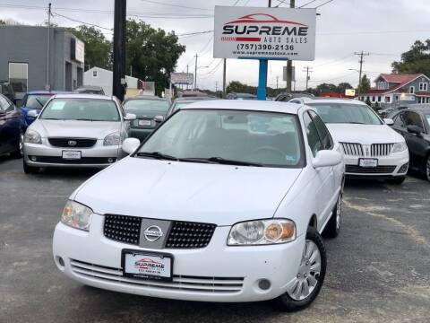 2005 Nissan Sentra for sale at Supreme Auto Sales in Chesapeake VA