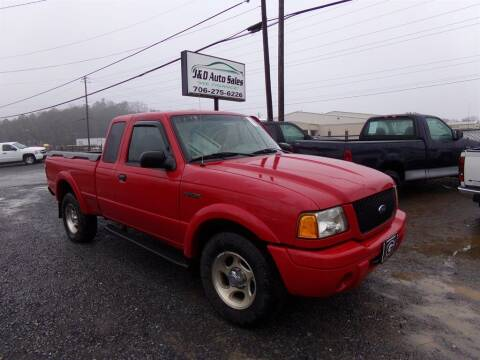 2001 Ford Ranger for sale at J & D Auto Sales in Dalton GA