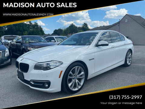 2014 BMW 5 Series for sale at MADISON AUTO SALES in Indianapolis IN