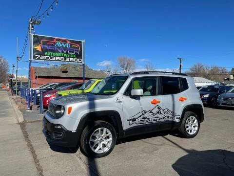 2016 Jeep Renegade for sale at AWD Denver Automotive LLC in Englewood CO
