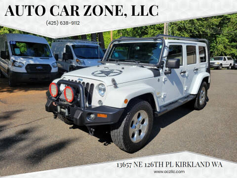 2014 Jeep Wrangler Unlimited for sale at Auto Car Zone, LLC in Kirkland WA