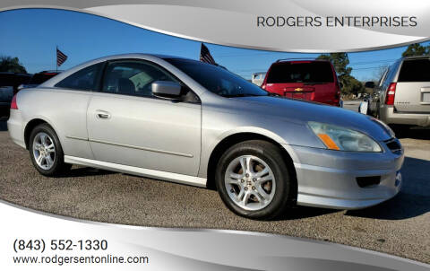 2006 Honda Accord for sale at Rodgers Enterprises in North Charleston SC