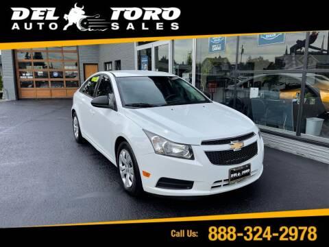 2013 Chevrolet Cruze for sale at DEL TORO AUTO SALES in Auburn WA