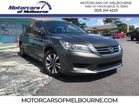 2013 Honda Accord for sale at Motorcars of Melbourne in Rockledge FL