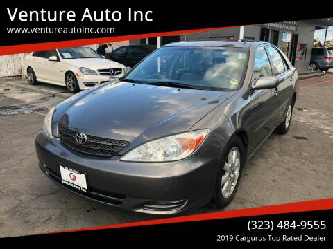 2002 Toyota Camry for sale at Venture Auto Inc in South Gate CA