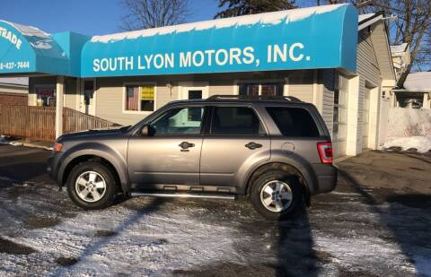 2011 Ford Escape for sale at South Lyon Motors INC in South Lyon MI