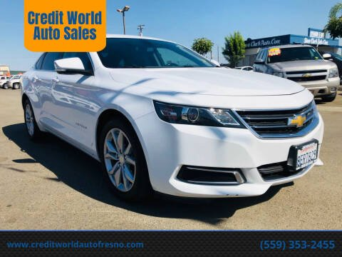 2017 Chevrolet Impala for sale at Credit World Auto Sales in Fresno CA