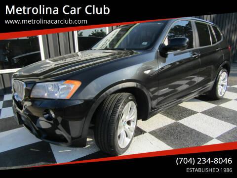 2014 BMW X3 for sale at Metrolina Car Club in Matthews NC