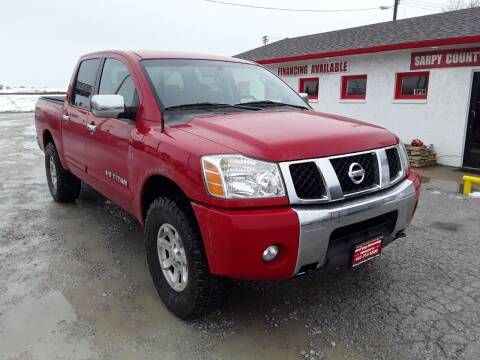 2007 Nissan Titan for sale at Sarpy County Motors in Springfield NE