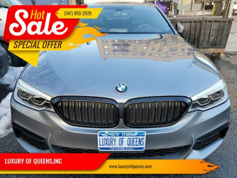 2017 BMW 5 Series for sale at LUXURY OF QUEENS,INC in Long Island City NY