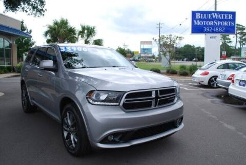 2017 Dodge Durango for sale at BlueWater MotorSports in Wilmington NC