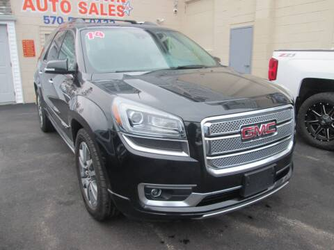 2014 GMC Acadia for sale at Small Town Auto Sales in Hazleton PA