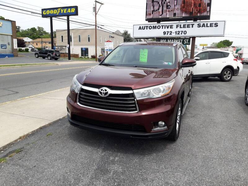 2014 Toyota Highlander for sale at Automotive Fleet Sales in Lemoyne PA