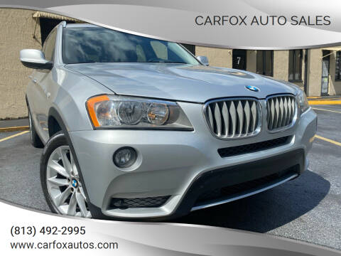 2014 BMW X3 for sale at Carfox Auto Sales in Tampa FL