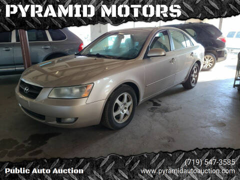 2007 Hyundai Sonata for sale at PYRAMID MOTORS - Pueblo Lot in Pueblo CO
