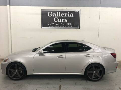 2011 Lexus IS 250 for sale at Galleria Cars in Dallas TX
