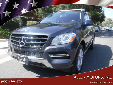2013 Mercedes-Benz M-Class for sale at Allen Motors, Inc. in Thousand Oaks CA