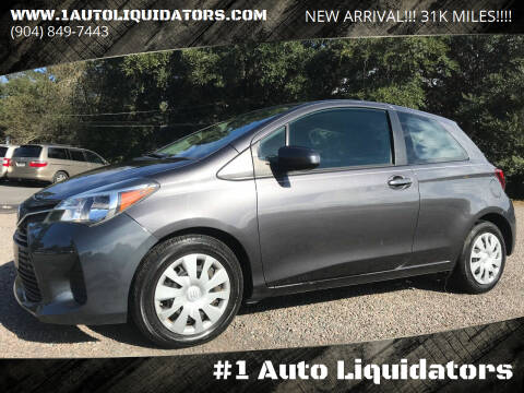 2017 Toyota Yaris for sale at #1 Auto Liquidators in Yulee FL